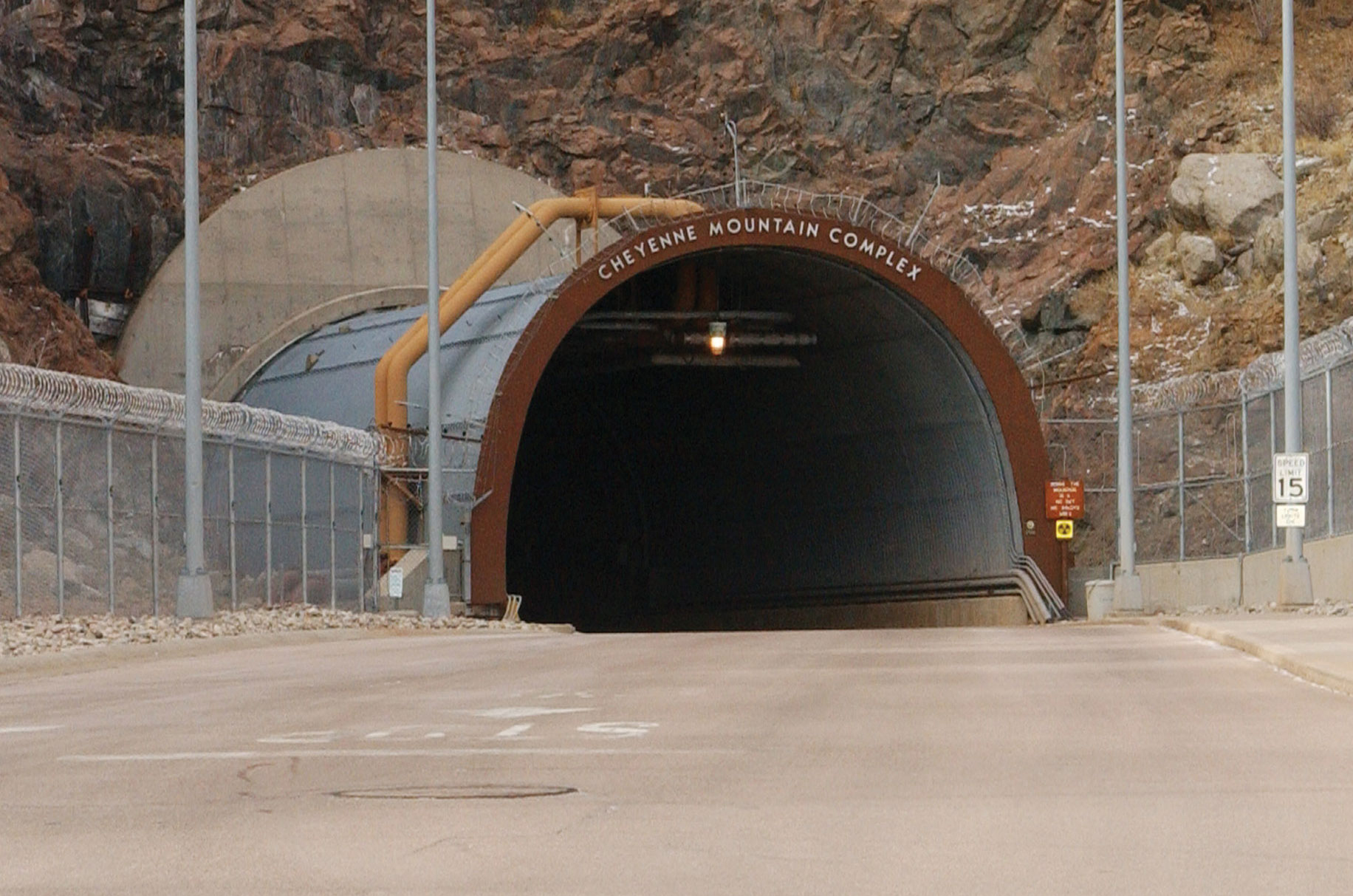 Cheyenne Mt North Portal - USAF Photo